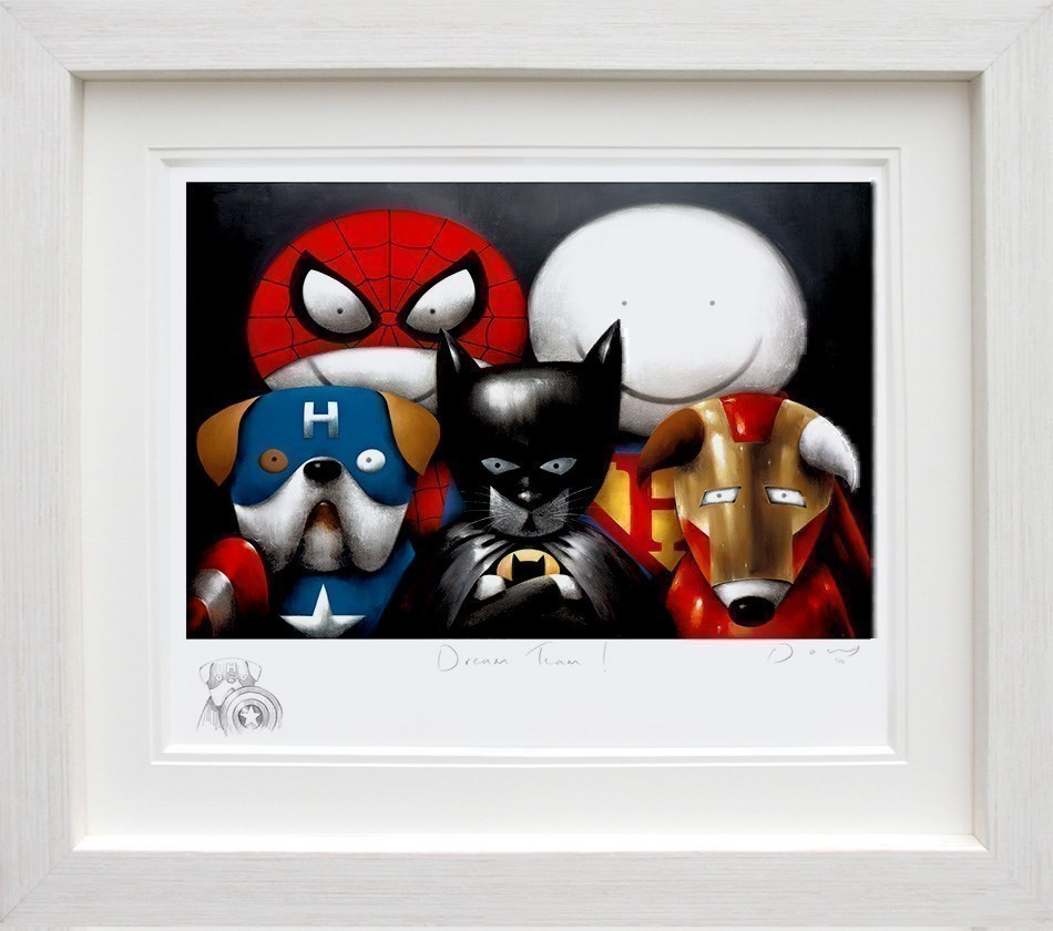 Dream Team! (Remarque) by Doug Hyde - Remarque Limited Edition on Paper sized 28x19 inches. Available from Whitewall Galleries