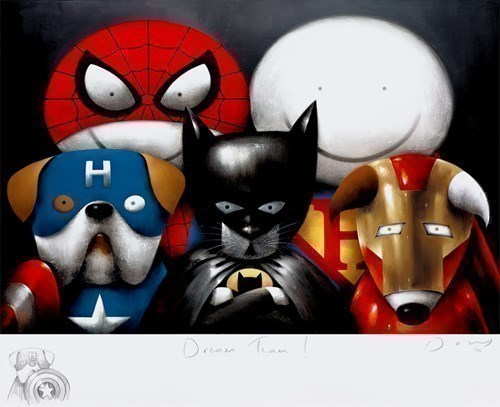 Image: Dream Team! (Remarque) by Doug Hyde | Remarque Limited Edition on Paper